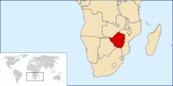 Zemljevid Zimbabvea